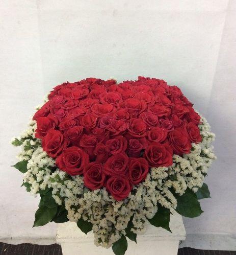 Bó hoa hình trái tim tình yêu
