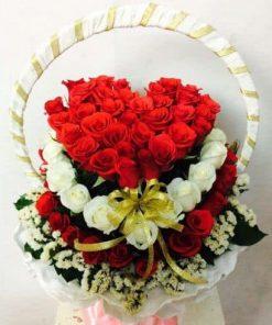 Lẵng hoa hồng đẹp tình yêu
