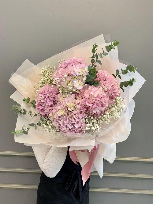 Bó hoa cẩm tú cầu hồng đẹp nhất VN