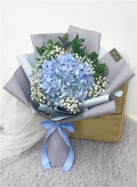Bó cẩm tú cầu xanh dương