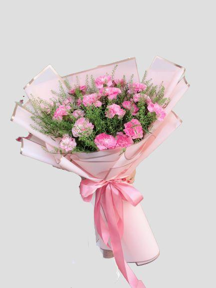 Bó hoa cẩm chướng màu hồng