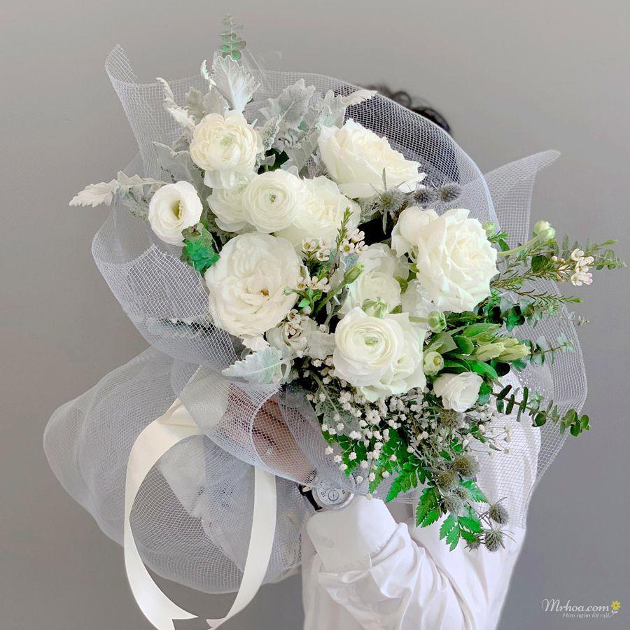 Bó hoa màu trắng đẹp nhất