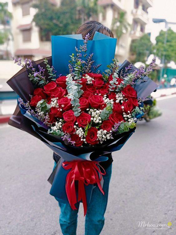 Bó hoa hồng đỏ đẹp nhất Việt Nam