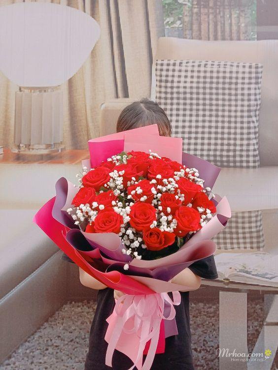 Bó hoa hồng đỏ tặng bạn gái đẹp nhất