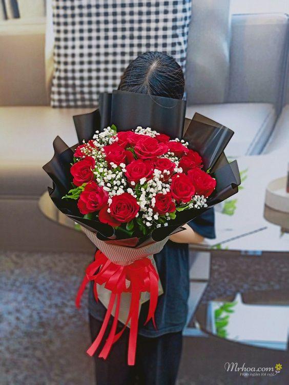 Bó hoa hồng đỏ tặng người yêu đẹp nhất