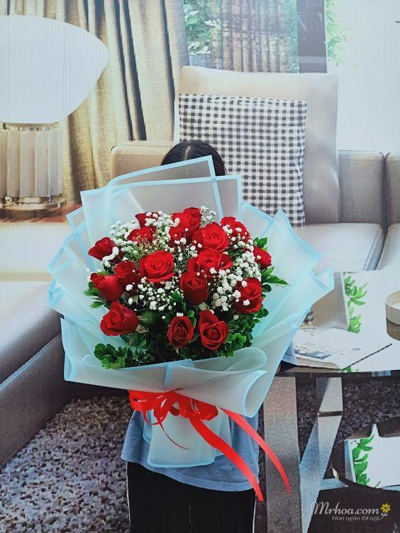 bó hoa hồng đỏ tặng sinh nhật người yêu