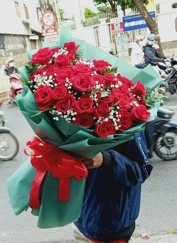 Bó hoa hồng đỏ tặng valentine