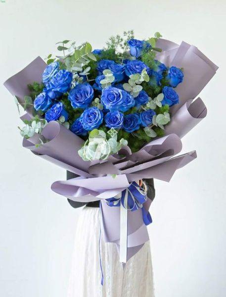 Bó hoa hồng xanh đẹp tặng bạn gái
