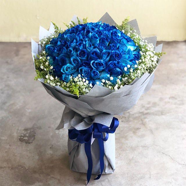 Bó hoa hồng xanh to đẹp