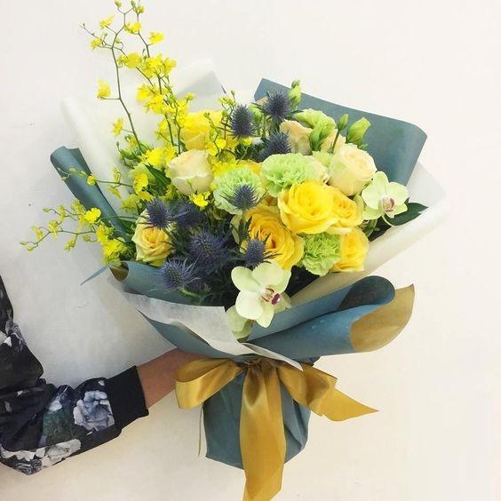 Bó hoa hồng vàng tặng người yêu