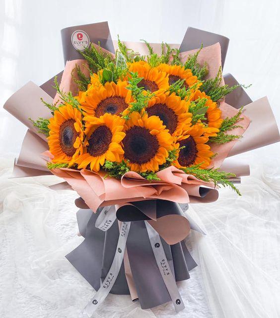 Bó hoa hướng dương đẹp nhất