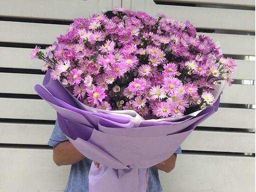 Bó hoa thạch thảo hồng