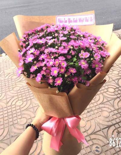 Bó hoa thạch thảo tặng sinh nhật bạn gái