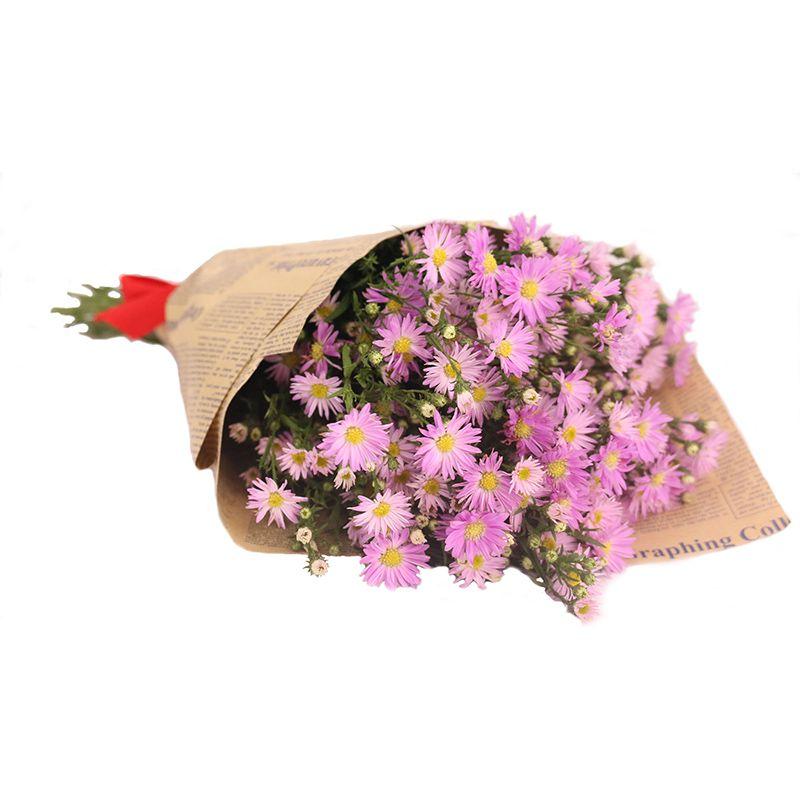 Bó hoa thạch thảo gói giấy đơn giản