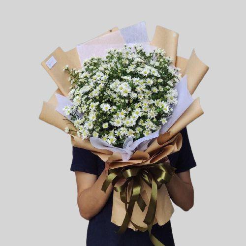 Hoa thạch thảo trắng tặng người yêu