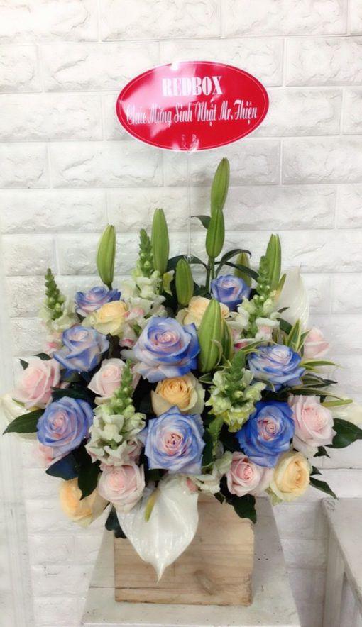 Giỏ hoa hồng