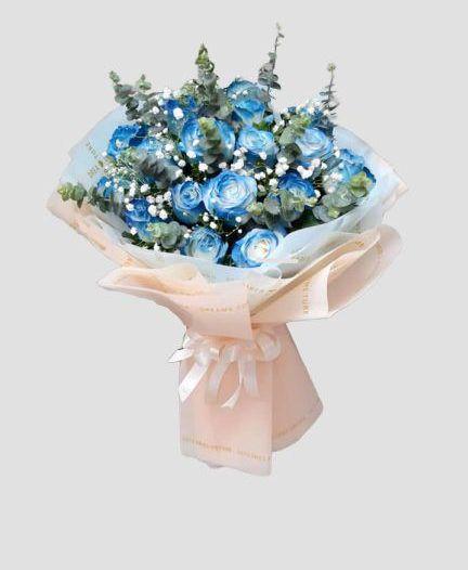 Bó hoa hồng xanh tặng vợ