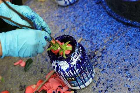 Nhúng sơn hoa hồng xanh