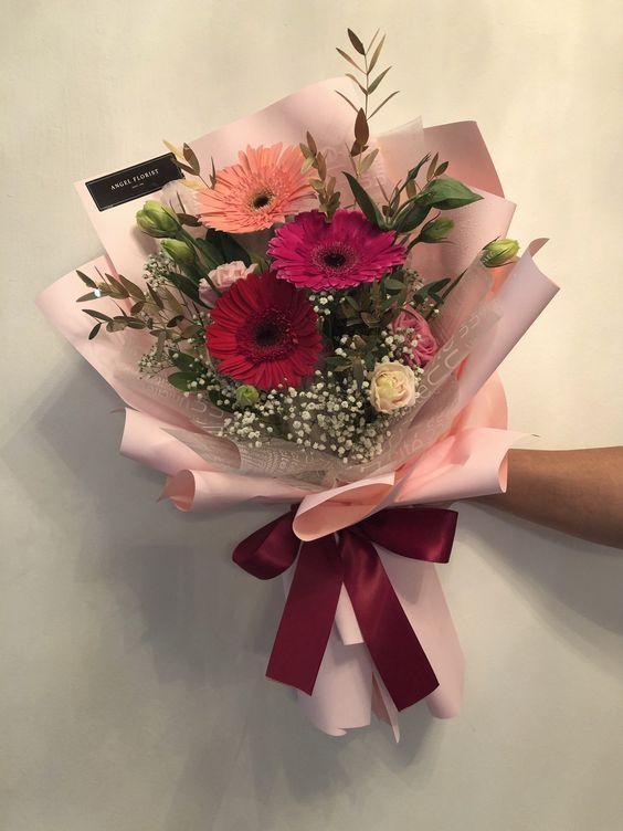 Bó hoa đồng tiền 3 bông 3 màu