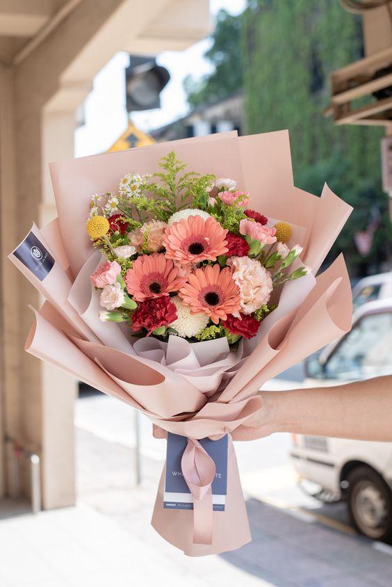 Bó hoa nhỏ tặng người yêu đẹp nhất