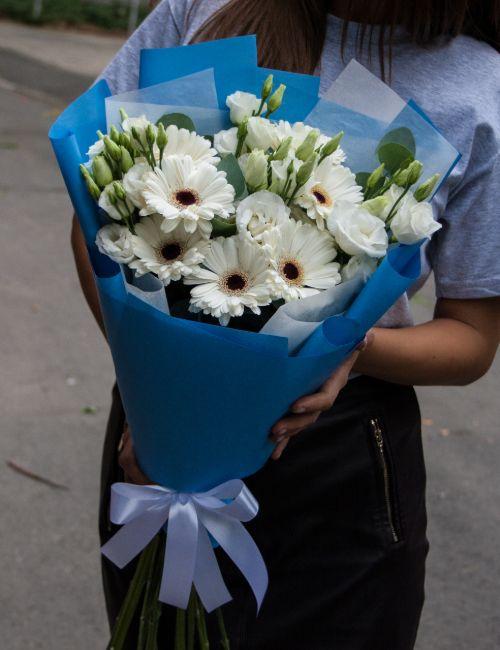 Bó hoa đồng tiền trắng