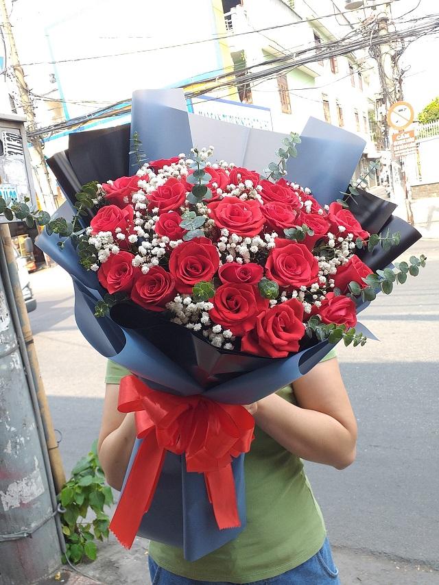 Bó hoa tươi Bến Cần