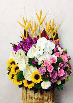 Giỏ hoa sinh nhật cao cấp