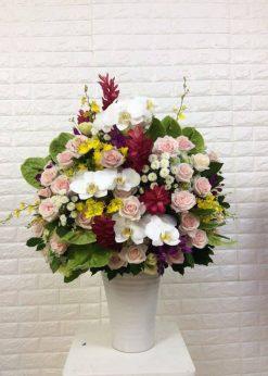 Hoa sinh nhật hộp gỗ