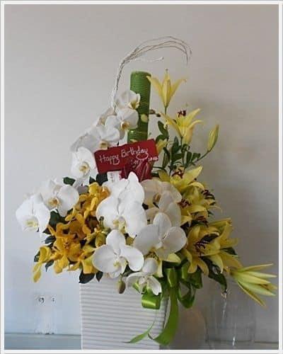 hoa sinh nhat chong