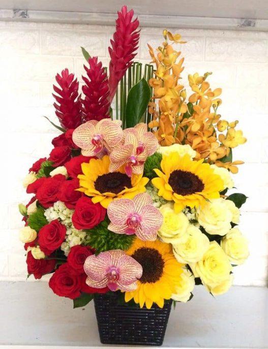 Gio hoa sinh nhat sep nam