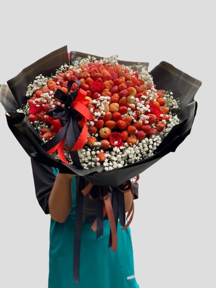 Bó hoa trái cây siêu to