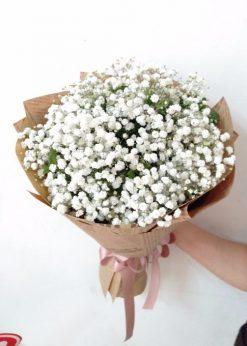 bó hoa baby trắng