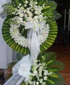 Kệ hoa tang lễ màu trắng