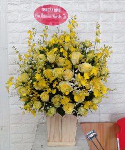 Hoa hộp gỗ đẹp
