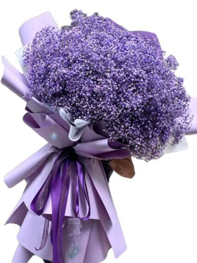 Bó hoa baby tím