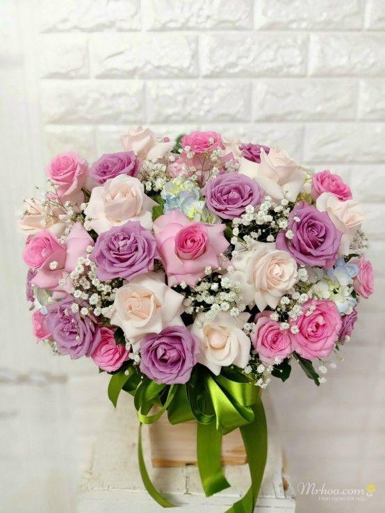 Giỏ hoa tặng ngày 8-3