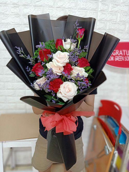 Bo hoa hong valentine