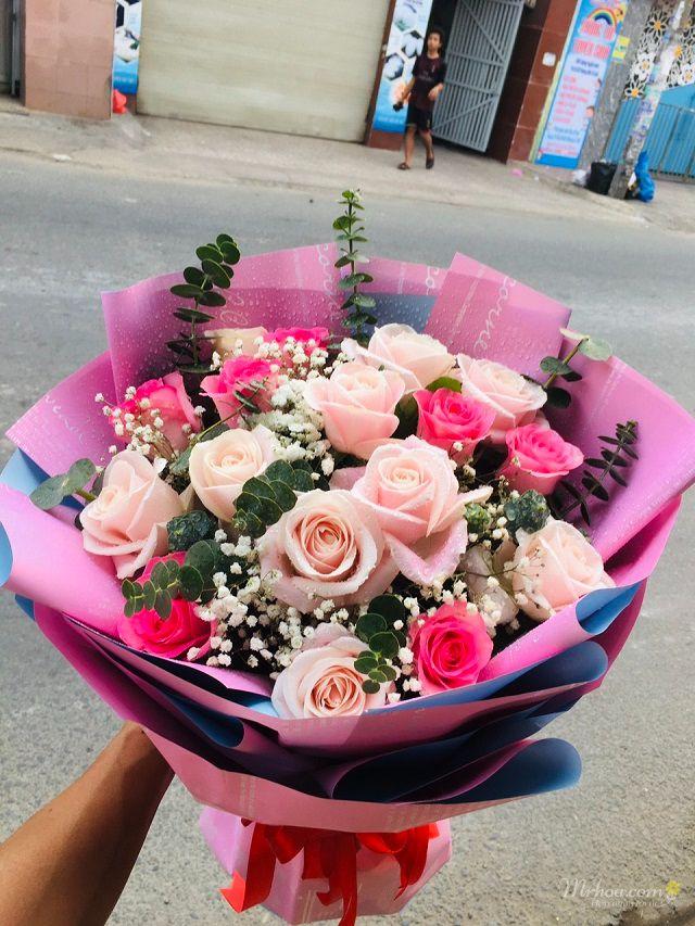 Bó hoa hồng 8-3