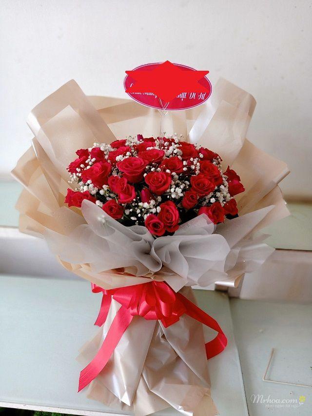 Bó hoa hồng đỏ tặng 8-3