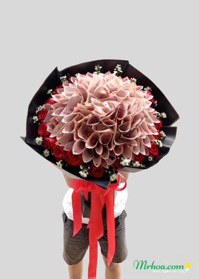 Bó hoa tiền 50k