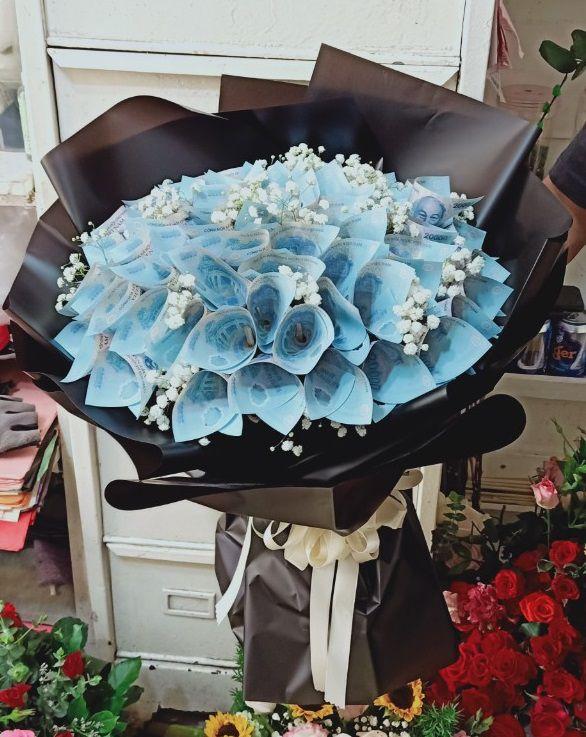 Bó hoa tiền 20k