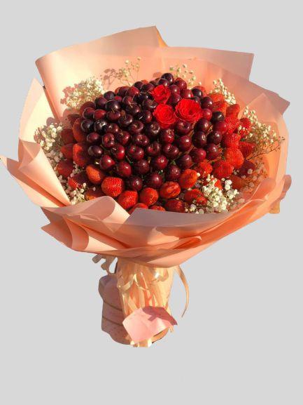 Bó hoa cherry ăn được