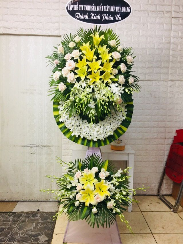 hoa tang lễ cần đước