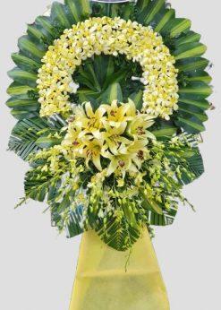 Vòng hoa tang màu vàng